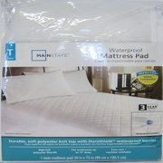 Mainstays Waterproof Fitted Polyester Mattress Pad, 1 Each