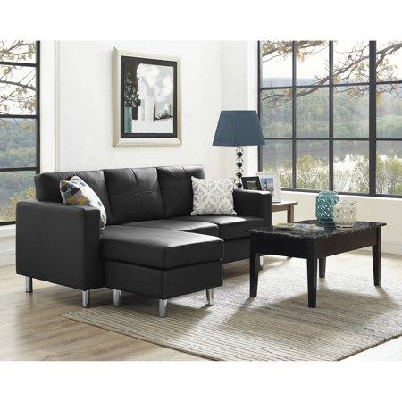 Dorel Living Small Spaces Configurable Sectional Sofa Multiple Colors Walmart Com