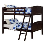 Angel Line Creston Twin Over Twin Convertible Wood Bunk Bed, Espresso