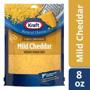 Kraft Mild Cheddar Finely Shredded Natural Cheese, 8 oz Pouch