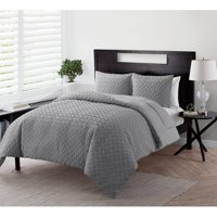 VCNY Home Nina Geometric Embossed Basketweave Bedding Comforter Set, Shams Included