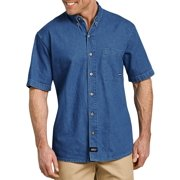 08f6751686c Men s Short Sleeve Button Down Denim Shirt