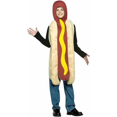 Hot Dog Teen Halloween Costume, One Size, (33-35) - Funny Large Dog Halloween Costumes
