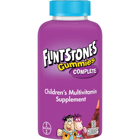 Kid Vits Multiple Vitamin - Flintstones Gummies Complete Children's Multivitamins, Kids Vitamin Supplement with Vitamins C, D, E, B6, and B12, 180 Count