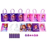 "Disney Princess Sofia 6.5"" Party Goody Gift Bag Party Favor Crayon Book (42 Pcs)"