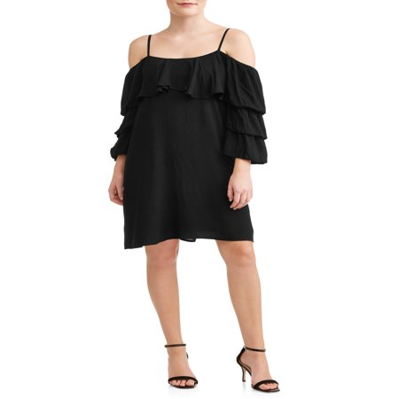 Women's Off the Shoulder Ruffle Sleeve Dress - The Great Gatsby Themed Dresses