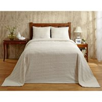 """Natick Chenille Bedspread, 102""""X110""""/Queen, Ivory"""