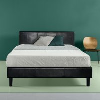Zinus Jade Faux Leather Upholstered Platform Bed with Wooden Slats, Multiple Sizes