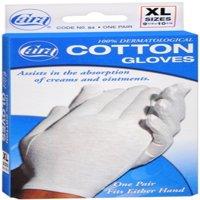 6 Pack - Cara 100% Dermatological Cotton Gloves X-Large 1 Pair