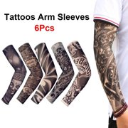 2356ad347 6 pcs Tattoos Cooling Arm Sleeves Cover Sport Basketball Golf UV Sun  Protection