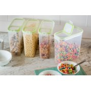 Snapware Airtight Food Storage 15.3 Cup Rectangular Slim Container with Fliptop Lid, Set of 4
