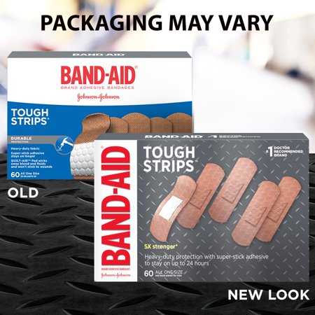 Band-Aid Brand Tough Strips Adhesive Bandage, All One Size, 60 ct (Halloween Band Aids)
