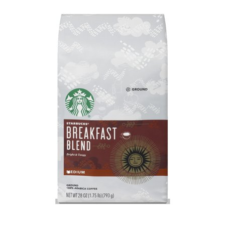 Starbucks Breakfast Blend Medium Roast Ground Coffee, 28-ounce bag