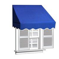 ALEKO 4' x 2' Window Awning Door Canopy, Blue