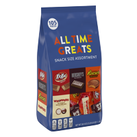 Hershey's All Time Greats Assortment Chocolate Candy, 38.9 Oz., 105 Count
