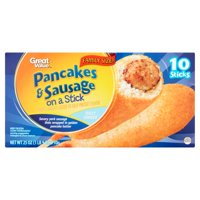 Great Value Pancakes & Sausage on a Stick Family Size!, 10 count, 25 oz
