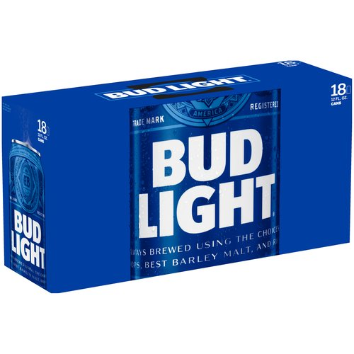 Bud Light Beer, 18 pack, 12 fl oz