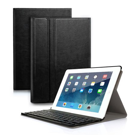 New iPad 2017 Folio Case with Keyboard, iPad Pro 9.7 iPad Air 1 / 2 Detachable Bluetooth Keyboard with Anti-Slip Folio Case Cover for iPad Tablet (Best Ivso Ipad Air Keyboard Cases)