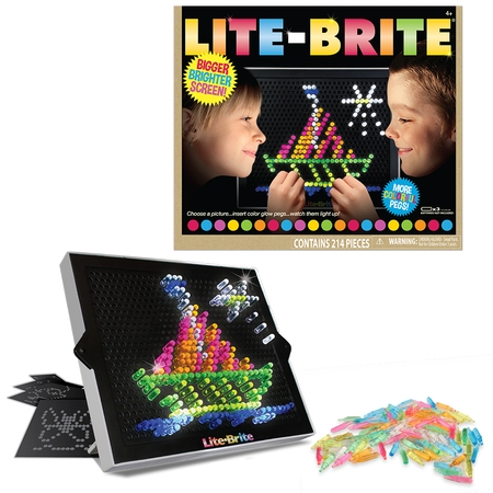 Lite Brite Ultimate Classic – With 6 Templates and 200 Colored Pegs - Toys For 12 Year Old Girls