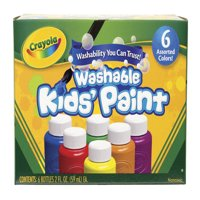 Crayola 6 count Washable Kids Paint in 2 oz bottles
