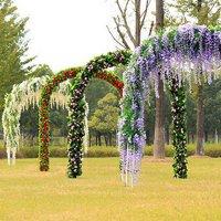 Girl12Queen Artificial Wisteria Flowers Vine Silk Flower Wedding Garden Party Hanging Decor