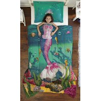 Dream Big Sea Princess Twin Mini Bedding Comforter Set