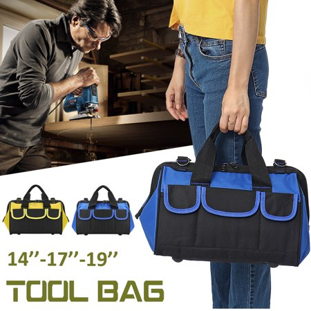 3 Sizes Portable Electrician Canvas Tool Bag Nylon Canvas Heavy Duty Tool Bag Contractor Storage Hardware -