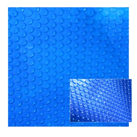 8-mil Solar Blanket for 12-ft Round Above-Ground Pools - Blue Cover with UV-Resistant Thermal Bubbles