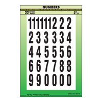 """2"""" Black and White Numbers Set"""