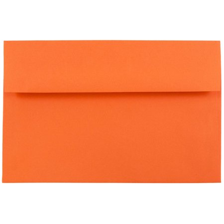 JAM Paper A8 Invitation Envelope, 5 1/2 x 8 1/8 Recycled, Brite Hue Orange, 50/pack