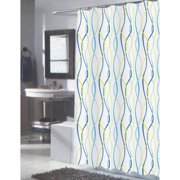 Extra Long Claire Fabric Shower Curtain