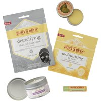 Burt's Bees Spa Collection Gift Set, 5 Products - Mini Candle, Lip Mask, Lip Balm, Face Mask and Cuticle Cream