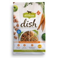 Rachael Ray Nutrish DISH Natural Dry Dog Food, Chicken & Brown Rice Recipe with Veggies & Fruit, 3.75 lbs
