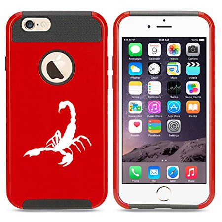 For Apple iPhone (6 Plus) (6s Plus) Shockproof Impact Hard Soft Case Cover Scorpion