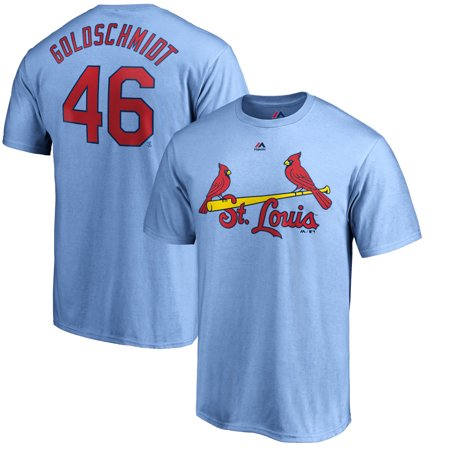 Paul Goldschmidt St. Louis Cardinals Majestic Official Name & Number T-Shirt - Light Blue ()
