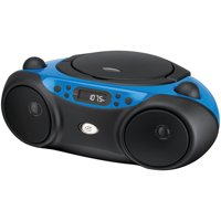 GPX BC232BU Sporty CD and Radio Boombox, Blue/Black