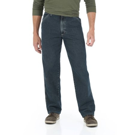 Wrangler Men's Straight Leg Carpenter Jean (Stonewashed Denim Pant Set)