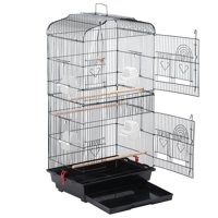 Yaheetech 18x14x36 Large White Metal Bird Cage for Budgie, Parrot, Canary & Cockatiel