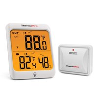 ThermoPro TP63 Wireless Thermometer Indoor Outdoor Digital Thermometer Temperature Humidity Monitor Meter 200ft/60m Range with Waterproof Outside Thermometer