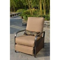 Mainstays Woven Outdoor Recliner, Beige