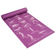3a76f91531 Eco-Friendly 5 mm Double Vein Yoga Mat in Purple Asanas