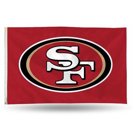 Rico Industries NFL 3' x 5' Banner Flag, San Francisco