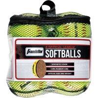 Franklin Sports 4 Official League Softballs, Yellow