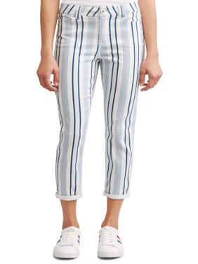 Preston High Rise Skinny Ankle Jean Women's (Striped)
