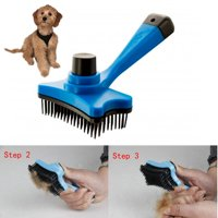Pet Dog Cat Grooming Self Cleaning Slicker Brush Comb Hair Trimmer Fur Shedding