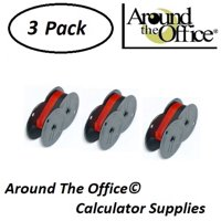 TOSHIBA Model BC-1235-PV Compatible CAlculator RS-6BR Twin Spool Black & Red Ribbon by Around The Office