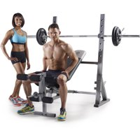 Gold's Gym XR 10.1 Olympic Weight Bench with Weight Storage