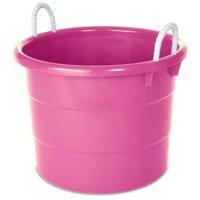 Homz 18-Gallon Kids Storage Rope Handle Tub, Set of 4, Multiple Colors