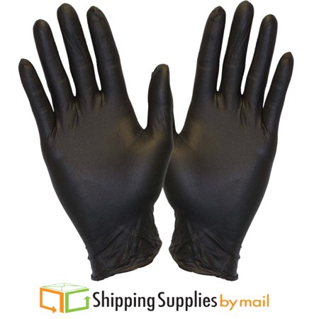 Black Nitrile Medical Disposable Gloves, Latex & Powder Free Single Use Only, 4 Mil X-Large 200 Count