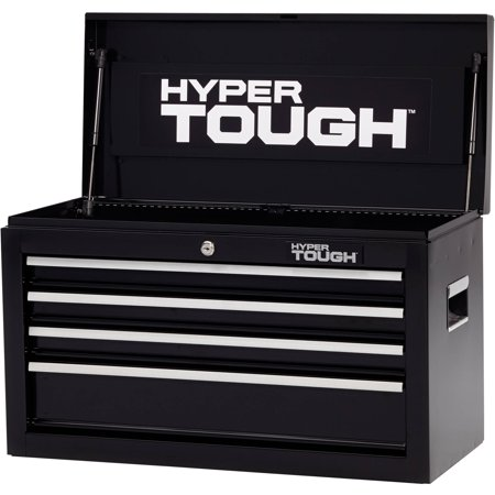 Hyper Tough 4-Drawer Tool Chest with Ball-Bearing Slides, (Jobsite Storage Chest)